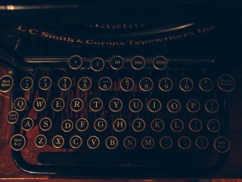 An old fashioned typewriter