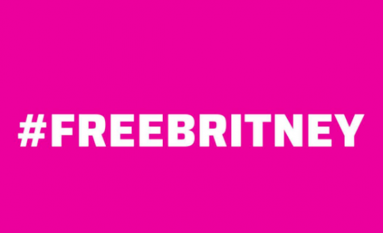 White text on pink background: #FreeBritney